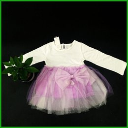 Party Dress Big Bow Baby Canada - much in stock Elegant Girl Dress Girls 2016 Summer Fashion Pink Lace Big Bow Party Tulle Flower Princess Wedding Dresses Baby Girl dress