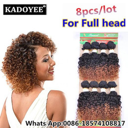 Discount 7a kinky curly ombre weave 8pcs lot unprocessed 7a virgin black afro kinky curly natrual brazilian hair weave short ombre hair human weave jerry cu