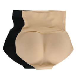 Barato Lingeries Calcinhas Atacado-Atacado-Sexy Lady Butt Levantamento Briefs Fake Ass Hip Up Padding Lingerie Butt Enhancer Shaper Calcinhas Push Up Bragas Seamless Underwear Shaper
