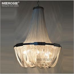 light up pendant 2019 - French Aluminum Chain Pendant Light Fixture Empire Vintage Hanging Suspension Lustre Chain Pendant Lamp Drop Light for H