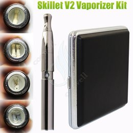 Chinese  NEW Skillet 2 Vaporizer Kit @Puffco pro Dual Quartz Rod Ceramic chamber Donut Coils Wax Dry herb atomizer clone herbal vapor pen ecigs DHL manufacturers