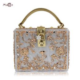 $enCountryForm.capitalKeyWord NZ - Moccen Acrylic Box Women Handbags Lock Evening Bags Handbag Ladies Clutch Bag Crossbody Shoulder Bags Day Clutches Hand Bag