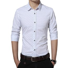 Barato Homens Moda Escritório Slim Fit-New Fashion Men's Shirt Casual Trident Print Camisa de manga comprida Vestuário para homem Trend Slim Fit Camisa de negócios Men Office Shirts 5XL YH-178