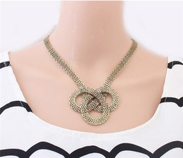 $enCountryForm.capitalKeyWord Canada - Punk Personality Flate Snake Chain Braided Choker Necklaces For Women Antique Bronze Collares Accessories Necklace Lot 12Pcs