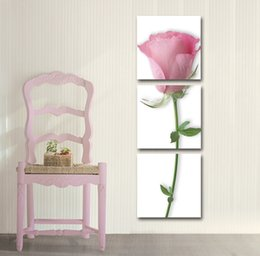 $enCountryForm.capitalKeyWord Canada - Free shipping 3 Pieces no frame art picture Canvas Prints tulips rose Abstract flowers butterfly Lotus leaf peony music Home decoration