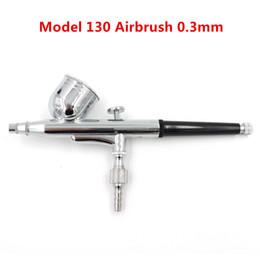 Modelo 130 Novo 0.3mm Escova de Ar Mini Pistola De Pintura Pistola Dupla Ação Airbrush Kit 7CC Copo Bolo Decoração Ferramenta de Pintura