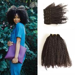 $enCountryForm.capitalKeyWord NZ - Virgin 4a 4b  4c 3a 3b 3c Malaysian Clip In Human Hair Extensions Afro Kinky Curly Clip On Hair Extension LaurieJ Hair