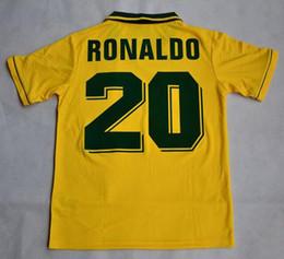$enCountryForm.capitalKeyWord Canada - Velvet name number!Retro jersey Brazil 1994 World cup Brasil Ronaldo  Romario Jerseys shirt
