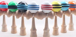 free kendama games UK - Free shipping Multicolor 18.5cmi*6cm big Kendama Ball Japanese Traditional Wood Game Toy Education Gifts, Activity Gifts toys