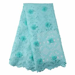 China 2017 lastest laser cut lace with beaded sexy hollow out nigerian cord lace 3D flower for nightclub dresses 5yard lot GYCO004 suppliers