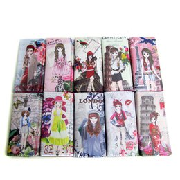 doll wallet zipper NZ - Factory Outlet selling Korea Cartoon Doll PU leather child student card wallet