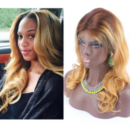 $enCountryForm.capitalKeyWord Canada - Sales Big Promotion 2 27 Ombre Wigs For Black Women Natural Wave Brazilian Full Lace Wigs Baby Hair Human Hair Wig