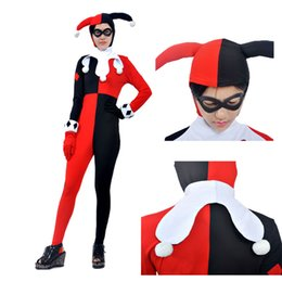 Wholesale New Arrival Cartoon Character Batman Harleen Quinzel Joker Cosplay Costume Helloween Custom Made Full Set