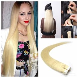 Discount best blonde hair extensions weft 2017 best blonde hair best selling remy human hair extensions 40pcs pu skin weft tape in hair extensions sliky straight free shipping 613 bleach blonde best blonde hair pmusecretfo Image collections