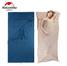 $enCountryForm.capitalKeyWord Canada - Naturehike Splicing Envelope Sleeping Bag Liner Cotton Ultralight Portable Outdoor Camping Hiking Travel Summer Sleeping Bag