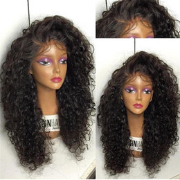 26 7a grade hair NZ - Grade 7A Deep Curly Full Lace Human Hair Wigs For Black Women Glueless Lace Front Human Hair Wigs Full Lace Wig