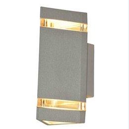 10 pçs / lote levou ao ar livre luz de alumínio à prova d 'água LEVOU lâmpada de Parede para baixo da lâmpada ao ar livre luz de parede luzes do jardim 8 W AC85-265V AC110V venda por atacado