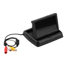 $enCountryForm.capitalKeyWord UK - 4.3'' Car LCD TFT Foldable Color Monitor Screen For Car Reverse Rearview Camera Support NTSC PAL Video system LCD Monitor New