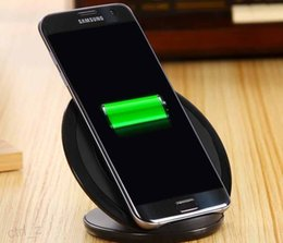 Wholesale For Samsung S7 edge Android Qi Wireless Charger Quick Charging Pad Dock Stand Holder For Galaxy S6 with Retail Package