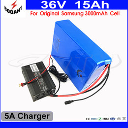 Cell Lithium Ion Battery Canada - US EU Free Tax Electric Bike Battery 36V 15AH For Bafang Motor 500W With Original 18650 Cell 5A Charger Lithium ion Battery 36V