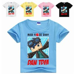 Barato Roupas Para Meninos Adolescentes-New Summer Juvenile Boys T-Shirt 18 cores disponíveis ROBLOX RED NOSE DAY Clothes 2-12Years Teenager Boy Shorts T Shirts