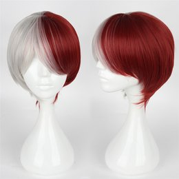 $enCountryForm.capitalKeyWord NZ - Fashion Women Party Cosplay Wig Red and White Hair Styling Cosplay Short Straight Wig