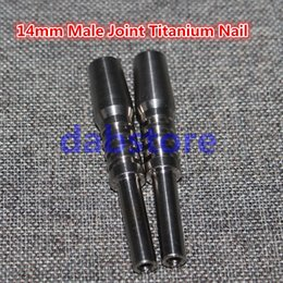 $enCountryForm.capitalKeyWord Canada - Popular use titanium nails 14mm male 6 in 1 domeless titanium nail with male joint for glass bong smoking