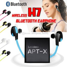 best iphone handsfree Canada - H7 Bluetooth Wireless V4.0 Sport Earphone And Noise Reduction Stereo Headset Headphone Handsfree Best CSR For iPhone X 8 7 Plus Samsung S8