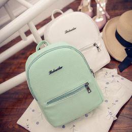 eab09a8cbaf4 Sweet College Wind Mini Shoulder Bag High quality PU leather Fashion girl  candy color small backpack female bag