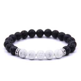 reiki healing wholesalers UK - Hot sale New Gold Silver Black Women Men Natural Lava Stone Bracelets Reiki Chakra Healing Balance Yoga Jewelry