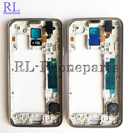 $enCountryForm.capitalKeyWord Canada - DHL 100pcs lot OEM Middle Plate Housing Frame Bezel Camera Cover all small parts For Samsung Galaxy S5 G900F G900A G900V G900T silver