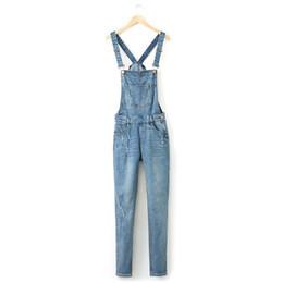 36 color pencils online shopping - Woman Brand Ripped Hole Denim Jumpsuits Ladies Sexy Slim Casual Romper Plus Size Denim Pencil Jeans For season
