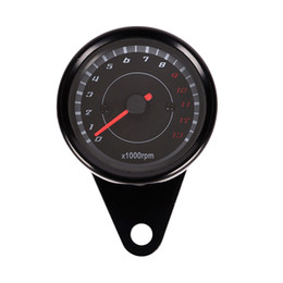 motorcycle tachometer gauges UK - Universal 12V Motorcycle Tachometer Tacho Gauge Speedometer with LED Backlight Night Light Motorbike Instrument Accessories