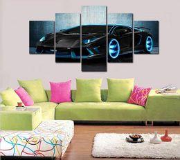 $enCountryForm.capitalKeyWord Canada - Cuadros Decoracion Fallout Unframed 5 Pcs The Sports Car Hd Canvas Print Painting Modern Home Wall Decor Art Picture Paint On P