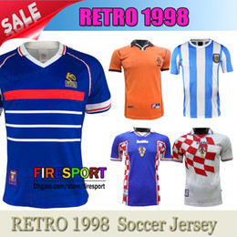 Henry Soccer Jersey Canada - 1998 ZIDANE retro soccer jerseys HENRY home  top thai 3AAA+ customzied 0c388a199