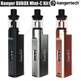 $enCountryForm.capitalKeyWord Canada - 100%Original KangerTech Subox Mini C 50W Kit Kanger KBOX Mini-C Mod SSOCC Coil Tank 3ml Protank 5 Atomizer EVO75 Vapor e cigarettes kits DHL