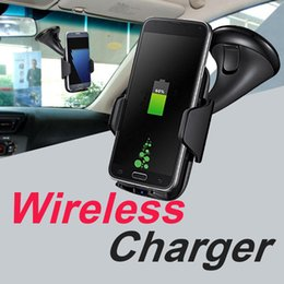 Discount quick charger car - Qi wireless Car Charger Fast Charger Stand Car Phone Mount Holder For Samsung Note8 Iphone X 8 Plus OTH078