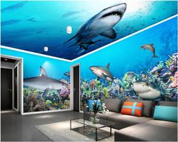 $enCountryForm.capitalKeyWord Australia - 3d wallpaer custom mural photo Underwater world shark house background wall living room home decor 3d wall murals wallpaper for walls 3 d