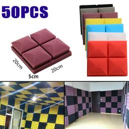 50pcs acoustic foam soundproof sound absorption recording studio ktv acoustic treatments decorate lattice wall panel foam 20 x 20 x 5cm