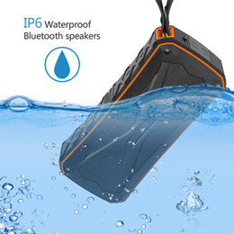 powered floor standing speakers 2019 - Waterproof Bluetooth Speaker Portable Outdoor Subwoofer with Two Speakers Wireless Music Player Shockproof Dustproof Pow