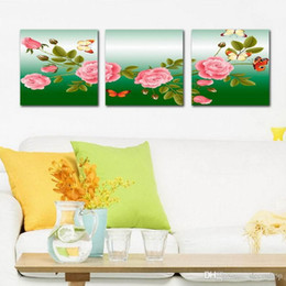 Beautiful peonies painting online shopping - Beautiful Peony Flowers Fine Floral Painting Giclee Print On Canvas Home Decor Wall Art Set30254