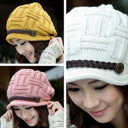 564fd957b4d Korean Version Of The European And American Fashion Trendy Curl Edge Wool Knitted  Beanie Caps Hat Hip Hop Hat
