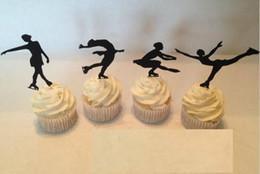 $enCountryForm.capitalKeyWord NZ - Custom Figure Skating Silhouette Cupcake Toppers sports food Picks bridal shower Bachelorette Party wedding birthday Party Decoration