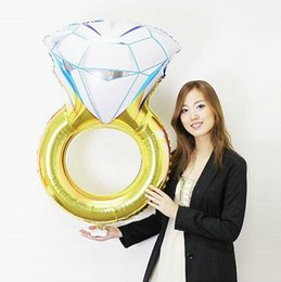 Valentine decorations online shopping - Popular inch Lover Wedding Marriage Balloon Diamond Bride Ring Engagement Foil Valentine Balloons Party Toys