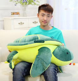 stuffed plush turtle Canada - Dorimytrader New 80cm Big Plush Animal Turtle Toy Stuffed Soft Giant 31'' Tortoise Doll Nice Kids Gift Present Free Shipping DY61218