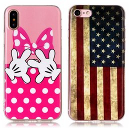 Discount chinese camera brands - Cartoon Soft TPU IMD Case For Iphone X 8 7 6 6s Plus USA Flag Panda Dreamcatcher Bowknot Hand Lion Owl Elephant CD Camer