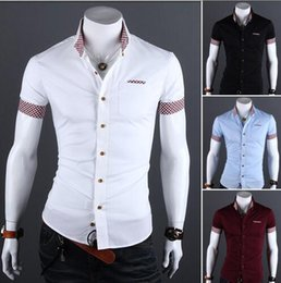 White Slim Fit Shirt Black Buttons Suppliers | Best White Slim Fit ...