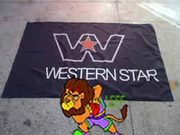 buggy rc car nitro UK - Western Star Trucks Racing flag, Best Nitro ,Electric RC Cars banner, Trucks, Buggy 100% polyster 90*150 CM flag,flag king