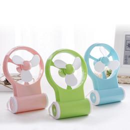 desktop gadgets 2019 - New Portable Mini USB Desk Fan Creative Home Office Desktop Fan Computer Peripherals USB Gadgets USB Fan Pink Green Blue