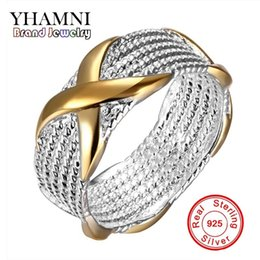 925 D Ring NZ - YHAMNI Original 925 Sterling Silver Engagement Ring Have S925 Stamp Jewelry Wedding Rings For Women JZX55
